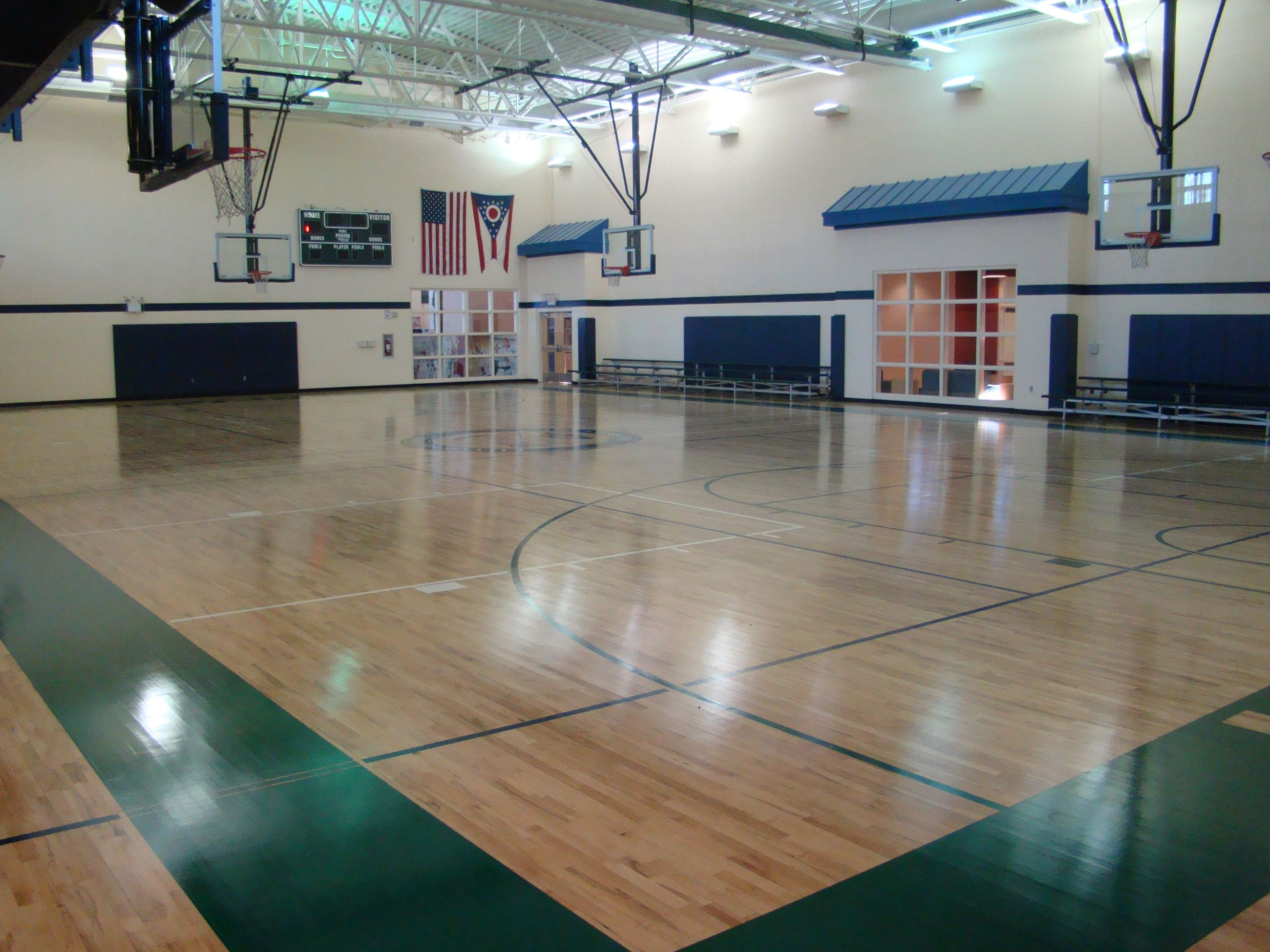 The Recreation Center's gymnasium floor.