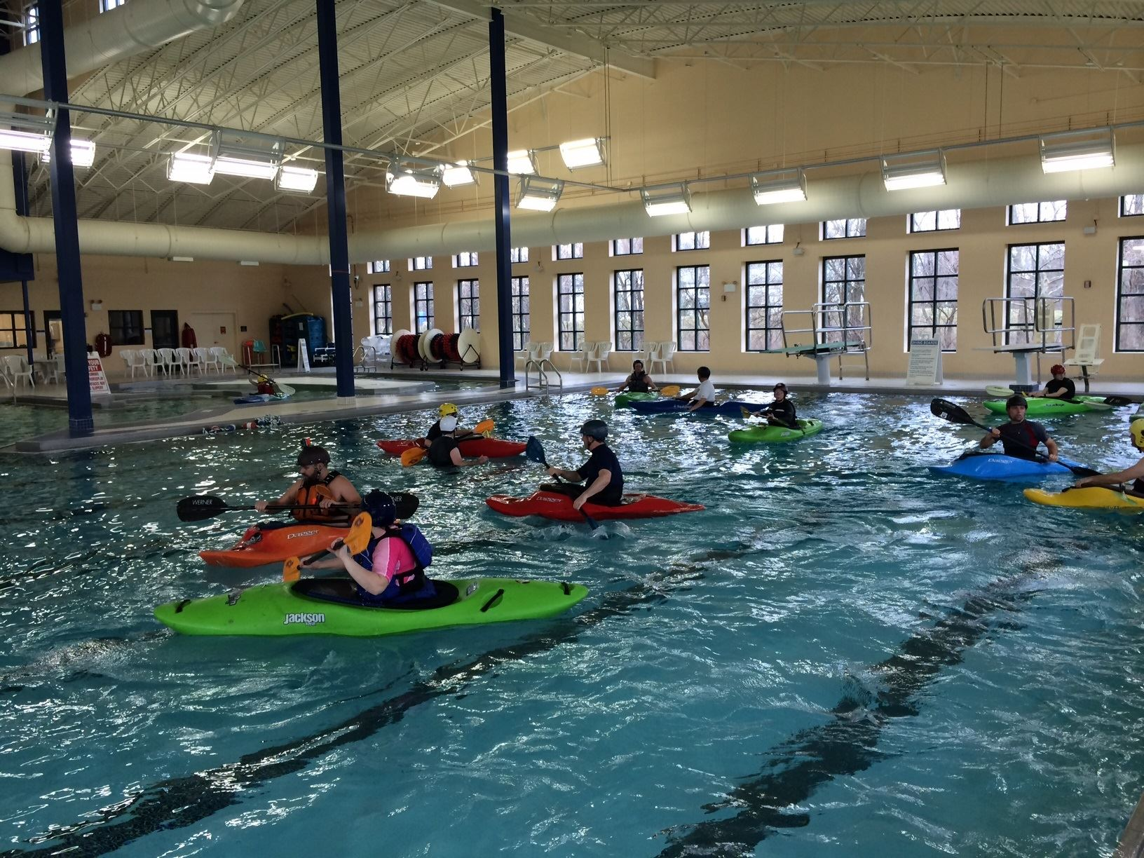 Kayaking Class in the Recreation Center's indoor pool